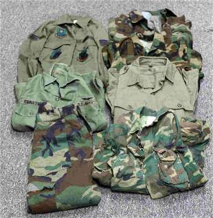 LOT OF US ARMY & OTHER SHIRTS AND TROUSERS