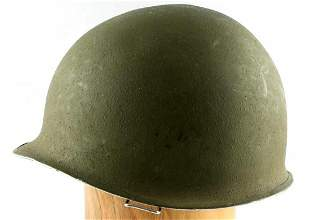 WWII US MILITARY ARMY M1 HELMET WITH LINER