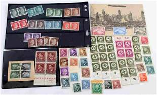 WWII THIRD REICH GERMAN HITLER STAMPS SOME UNCUT