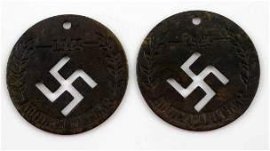 WWII THIRD REICH GERMAN HITLER BIRTHDAY TOKENS