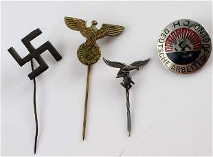 WWII THIRD REICH GERMAN STICKPIN HJ PARTY PIN LOT