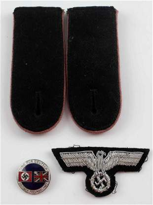 WWII THIRD REICH GERMAN INSIGNIA LOT PIN BOARDS