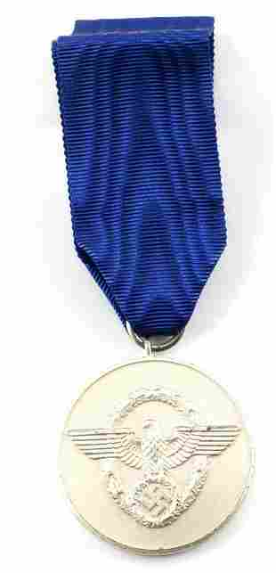 WWII GERMAN 3RD REICH POLICE 8 YEAR SERVICE MEDAL