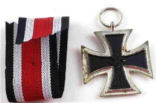 WWII THIRD REICH GERMAN IRON CROSS MEDAL W RIBBON