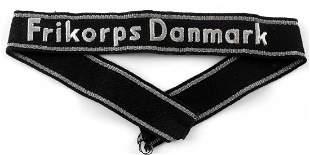 WWII GERMAN 3RD REICH FRIKORPS DANMARK CUFF TITLE