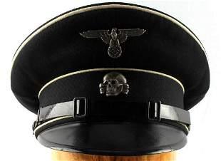 WWII GERMAN REICH WAFFEN SS NCO EARLY VISOR