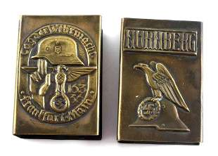 2 WWII GERMAN THIRD REICH MATCHBOOKS NURNBERG