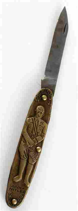 WWII THIRD REICH GERMAN HITLER FOLDING KNIFE