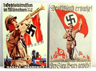 WWII THIRD REICH GERMAN HITLER YOUTH METAL SIGNS