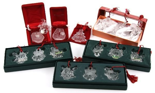 WATERFORD MARQUIS 12 DAYS CHRISTMAS ORNAMENT LOT