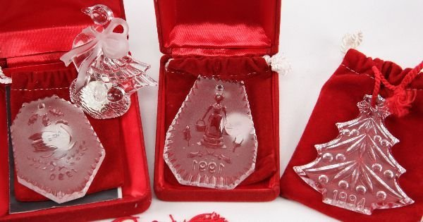 WATERFORD MARQUIS 12 DAYS CHRISTMAS ORNAMENT LOT - 3