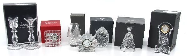 WATERFORD CRYSTAL LOT VASE CLOCK AND MORE