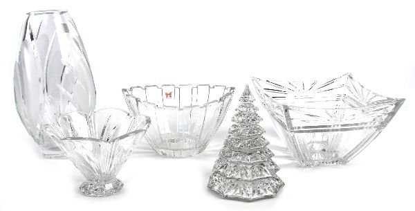 WATERFORD CRYSTAL VASE AND BOWL LOT