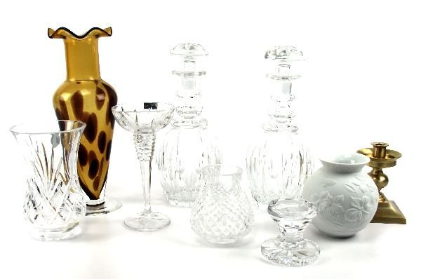 CRYSTAL DECANTERS LAMPS PLUS EXTRAS