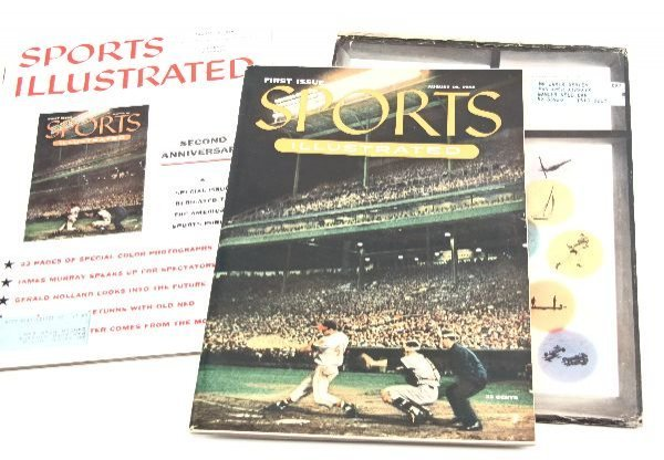1ST ISSUE SPORTS ILLUSTRATED MAGAZINE AUG 1954 - 3