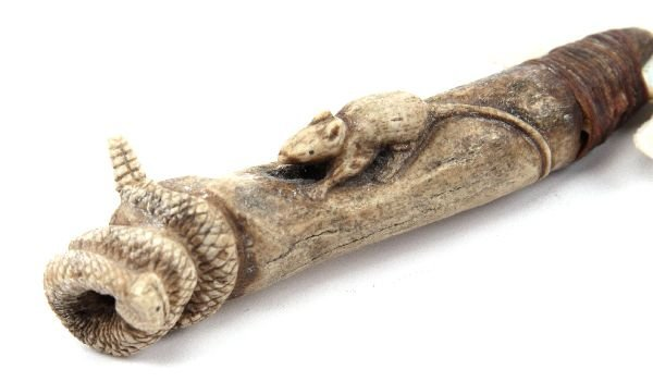 CARVED WHALE PENIS BONE DAGGER - 2