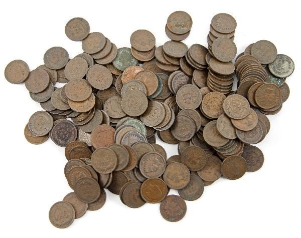 250 INDIAN HEAD SMALL CENTS UNSEARCHED