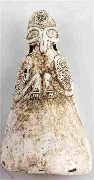 PRECOLOMBIAN TAINO LARGE CONCH SHELL COHOBA SPOON