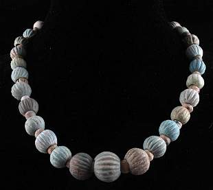 ANCIENT EGYPTIAN NEW KINGDOM FAIENCE NECKLACE