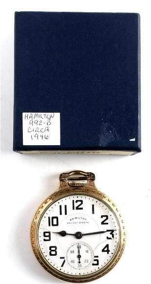 HAMILTON RAILROAD GRADE 992B POCKET WATCH