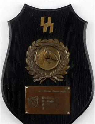 WWII GERMAN THIRD REICH WAFFEN SS CAVALRY PLAQUE
