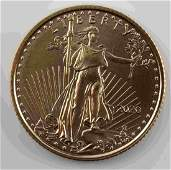 GOLD AMERICAN EAGLE 2020 1/10 OZT BU COIN