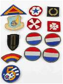 13 ASSORTED WWII U.S. ARMY & AIR FORCE PATCHES