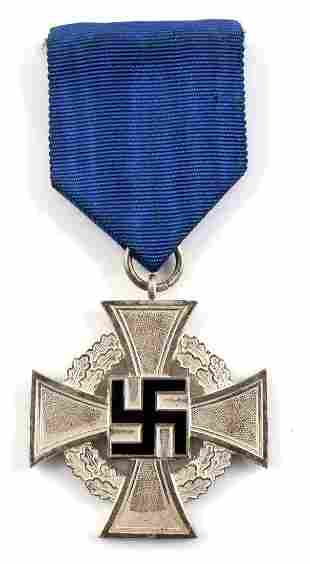 WWII GERMAN 25 YEAR FAITHFUL SERVICE MEDAL CROSS