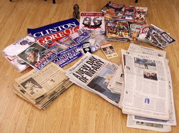 MIXED LOT CAMPAIGN, MAGAZINE AND NEWSPAPER