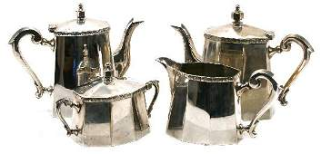 SILVER PLATED COPPER TEA SET