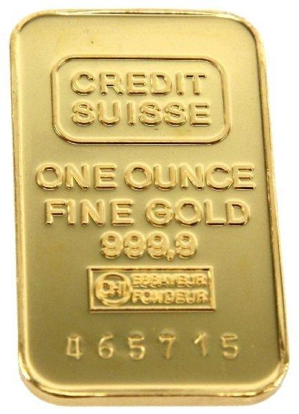 CREDIT SUISSE 1 OZ FINE GOLD BAR