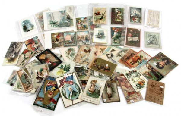 LARGE LOT OF VICTORIAN AND VINTAGE CARDS