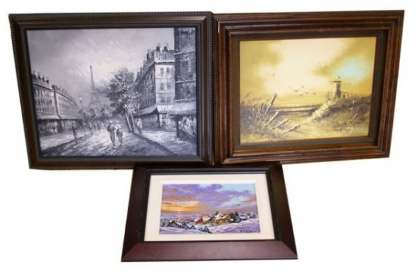LOT 3 OIL ON CANVAS PAINTINGS SIGNORE PERCY