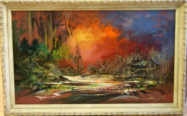 BAYOU PAINTING ON CANVAS BY BRAWLEY