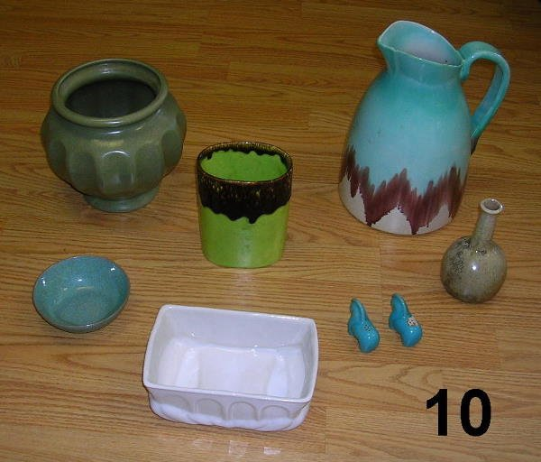 9010: POTTERY LOT CASCASE WARE MCCOY HULL ETC