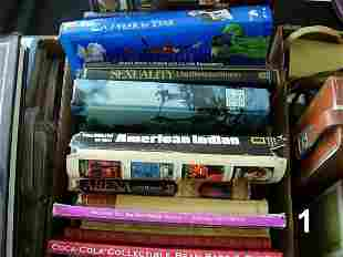 WWII US MILITARY BOOK BOX LOT - VARIOUS