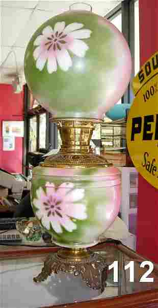 ANTIQUE GONE WITH THE WIND BRASS LANTERN LAMP