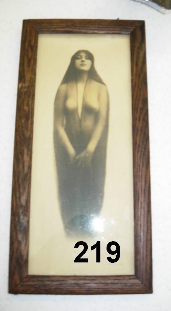 90219: ANTIQUE PHOTOGRAPH WYATT EARP WIFE NUDE INDIAN R