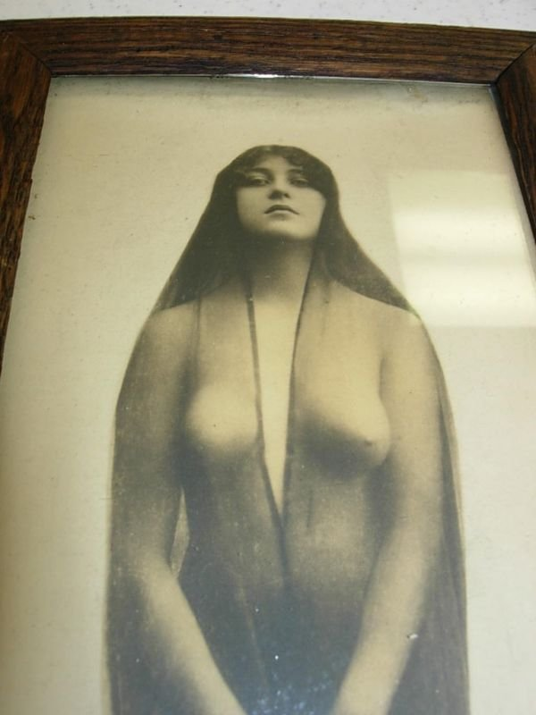 90219: ANTIQUE PHOTOGRAPH WYATT EARP WIFE NUDE INDIAN R - 2