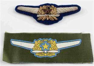 LOT 2 WWII U.S. ARMY JAPANESE AVIATOR PILOT WINGS