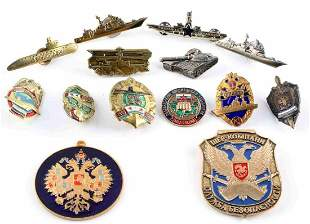 LOT OF 14 RUSSIAN SOVIET UNION MILITARY BADGES