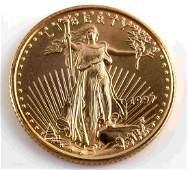 1/10 OZ AMERICAN EAGLE GOLD COIN BU 1997