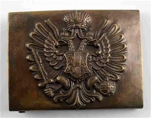 WWI AUSTRIAN COMBAT BRASS BELT BUCKLE