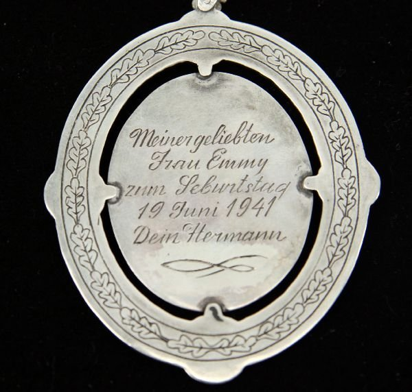 PENDANT PRESENTED TO EMMY BY HERMANN GOERING - 5