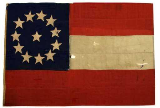 Civil War Captured Confederate Flag Circa 1862