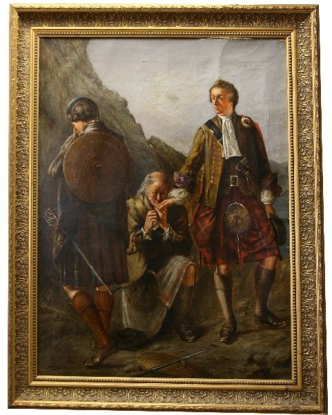 CLUNY'S FAREWELL TO PRINCE CHARLIE PAINTING
