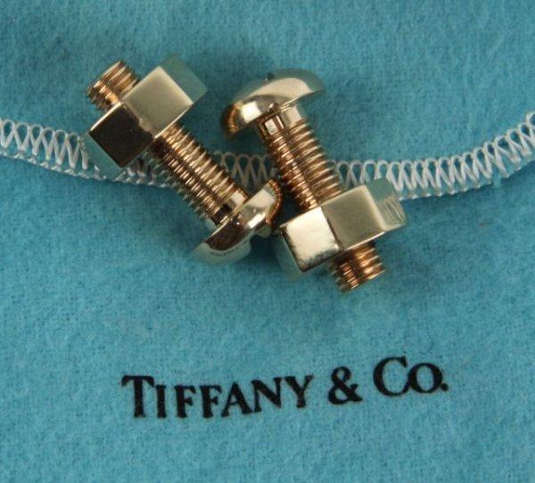 14K GOLD TIFFANY & CO. NUT AND BOLT CUFFLINKS - 3