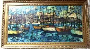 MICHAUX ITALIAN MID CENTURY MODERN OIL PAINTING