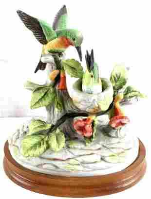 ROYAL CROWN PORCELAIN HUMMINGBIRDS BY BYRON