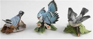 LENOX PORCELAIN BLUE JAY TITMOUSE & BIRD FIGURINES